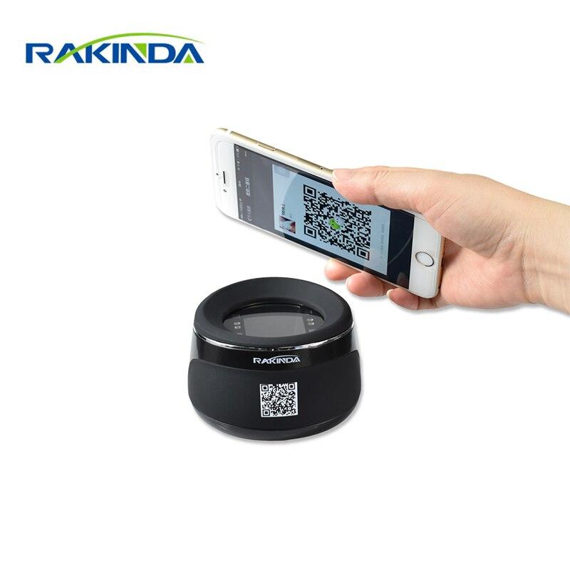 RD4100 RAKINDA NOVA CHEGADA de Alta Qualidade Desktop QR Scanner de Código de Leitor de código de Barras para Pagamento de Telefone Móvel, USB/RS232