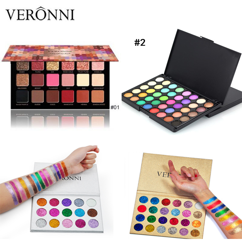 VERONNI Matte powder Eyeshadow Palette Professional Color Eye shadow Pigments Glitter Make Up EyeShadow