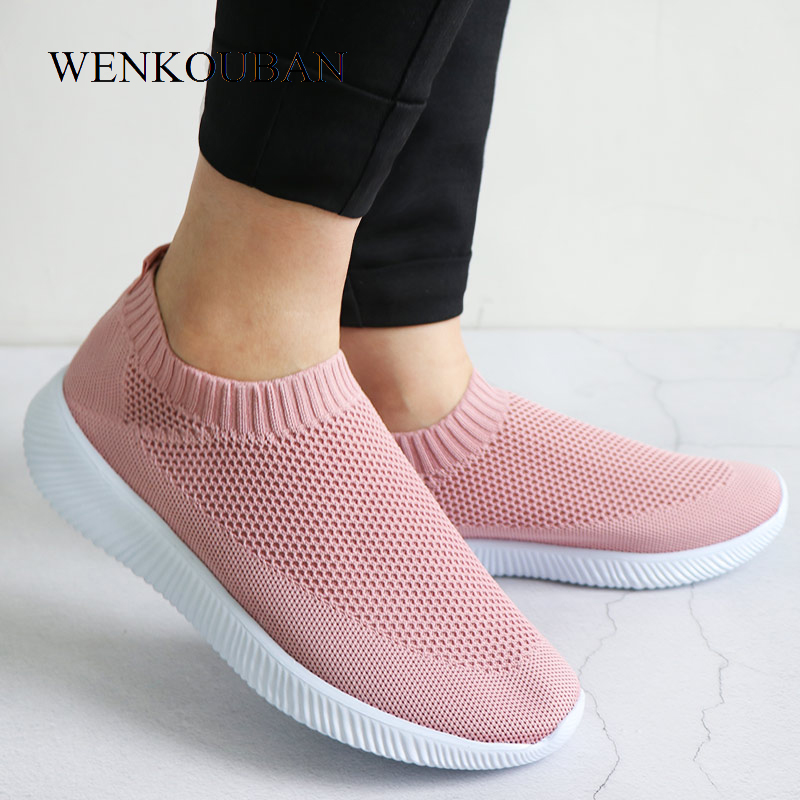 HTB1GDgNPSrqK1RjSZK9q6xyypXaR - Women Sneakers Fashion Socks Shoes Casual White Sneakers Summer knitted Vulcanized Shoes Women Trainers Tenis Feminino