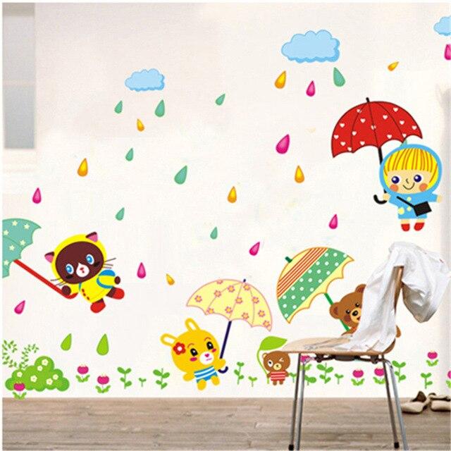 Wall Decoration Kindergarten : Aliexpress buy ay rain in little bear children