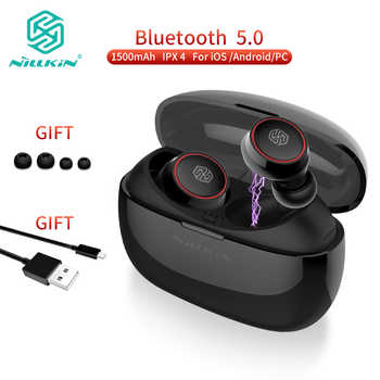 NILLKIN TWS bluetooth earphone Blutooth 5.0 Earphone with charging case microphone Handsfree Earbuds Gaming Wireless Head phones - DISCOUNT ITEM  25% OFF All Category