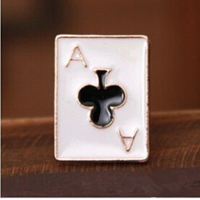 2017 HOT Free shipping jewelry wholesale cute and funny modern poker suit small brooch / collar flower