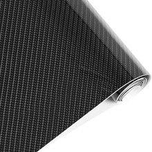 152cmx50cm 5D High GLOSS Carbon Fiber Vinyl Film Sheet Wrap Roll Waterproof Auto Car Decor Sticker