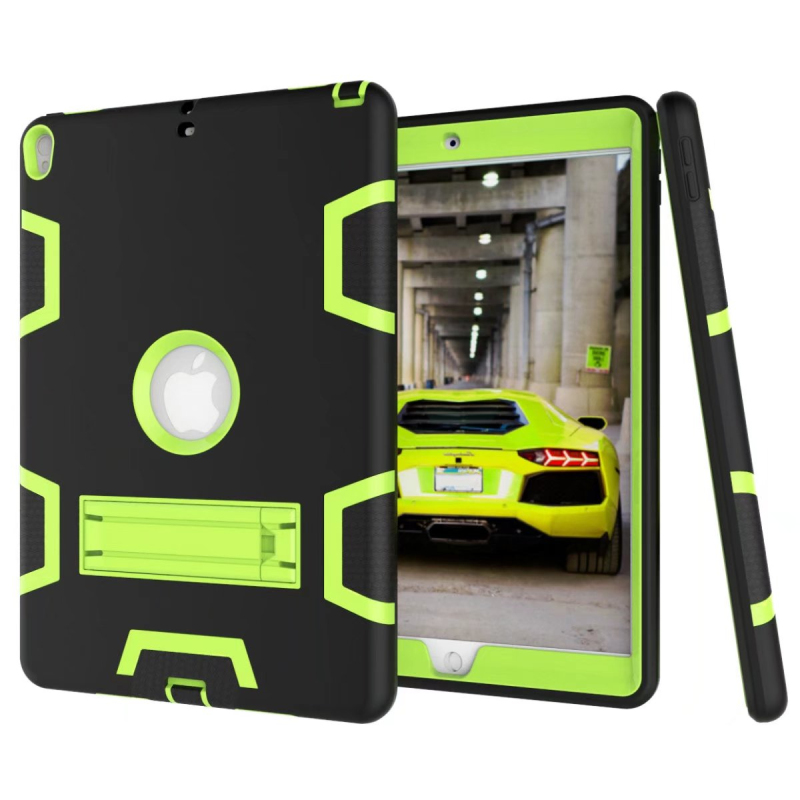 Rugged Shockproof Case for iPad Pro 10.5 Silicone Hard Plastic Impact Armor Protective Back Cover for iPad Pro 10.5 with Stand case for apple ipad pro plus 12 9 tablet heavy duty rugged impact hybrid case kickstand protective cover for ipad pro 12 9
