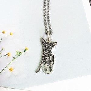 Image 3 - Индивидуальное изготовление на заказ, фото, драгоценности, ожерелье педант DIY с собакой, Очаровательное ожерелье с животными, ювелирные изделия