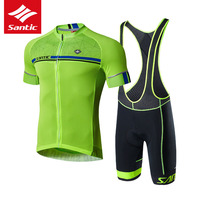 Santic Mens Cycling Jersey Set Pro Team Mountain Road Bike Jersey Breathable Bicycle Jersey Cycling Clothing Set Ropa Ciclismo