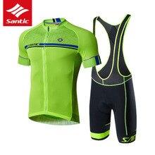 Santic conjunto camisa de ciclismo men pro team mtb bicicleta estrada camisa verão esporte ciclismo roupas conjunto ropa ciclismo 2019