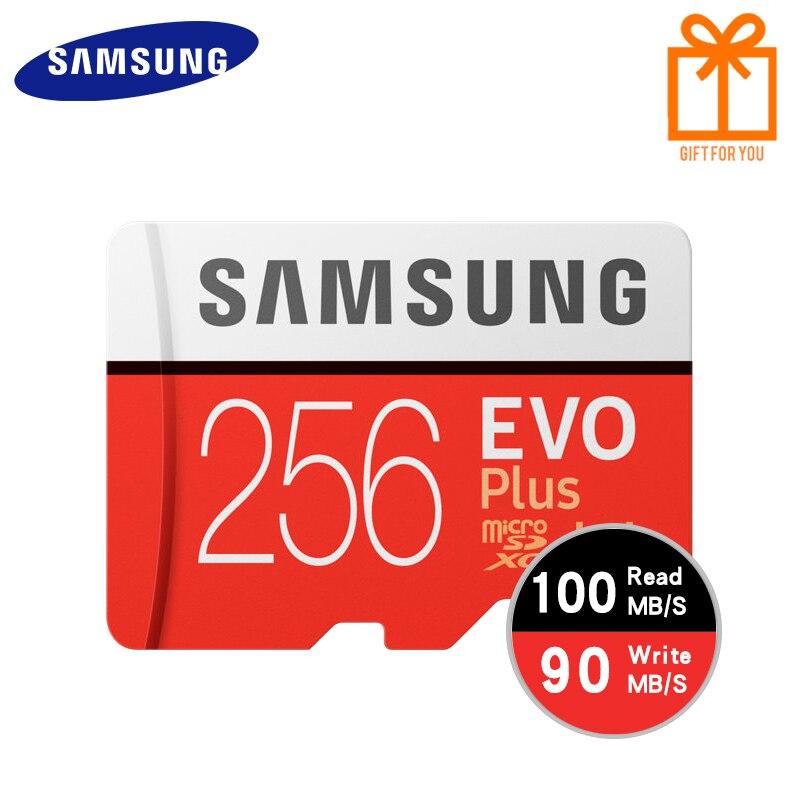 Carte mémoire SAMSUNG Micro SD 256GB 16GB 32GB 64GB 128GB SDHC SDXC Grade EVO Plus U3 EVO classe 10 C10 UHS TF Flash Microsd