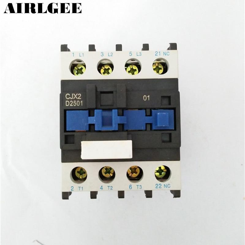 CJX2-2501 660V 25A 3 Poles 3P NC DIN Rail AC Contactor 24V Coil