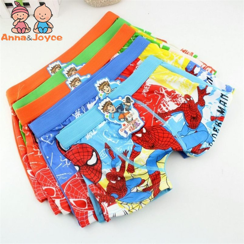 6 Pcs/lot Boys Boxer Children's Cotton Underwear Spiderman Boys Underwear Cartoon Boy Boxers Tnm0006 1