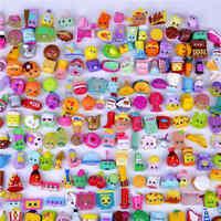 100pcs)lot HOT! Figures For Toys Fruit Dolls Styles Shop Family Kins Action Figures For shop Little Figurines Mixed Season
