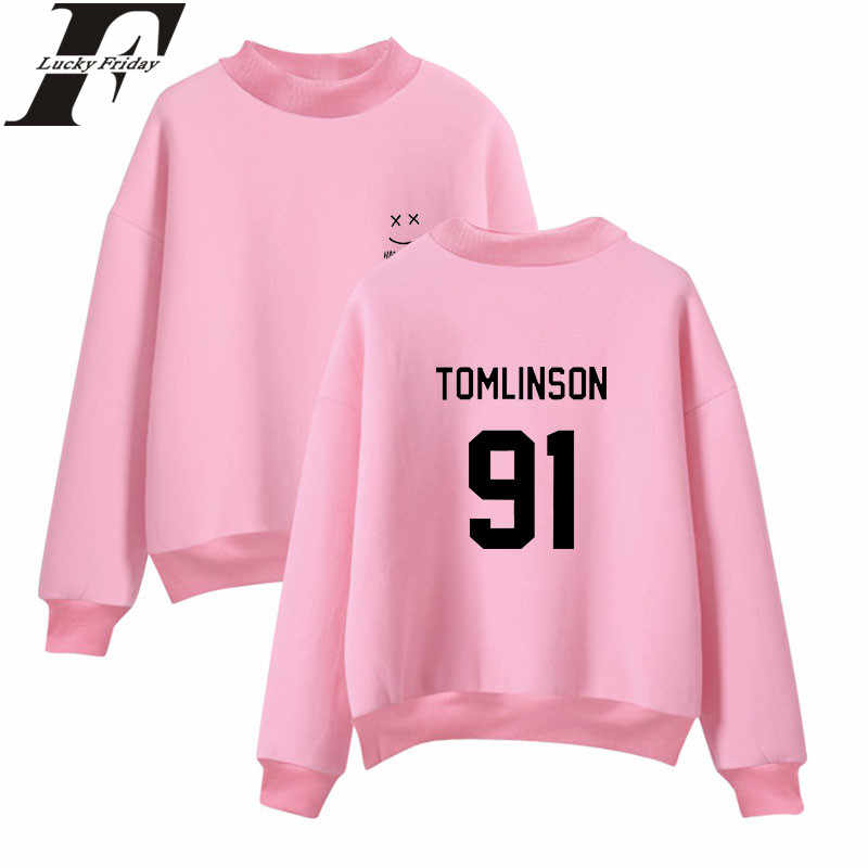 LUCKYFRIDAYF Louis Tomlinson One Direction Hoodies Sweatshirts 2018 Hoodies  Outwear Style Turtleneck Clothes Winter Plus Size 6a854e8e8cbb