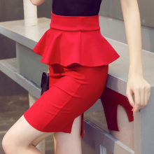 High Waist Formal Skirt with Frill