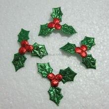 60pcs Embossed leaves Scrapbook Appliques/ craft/ Christmas decoration -A246