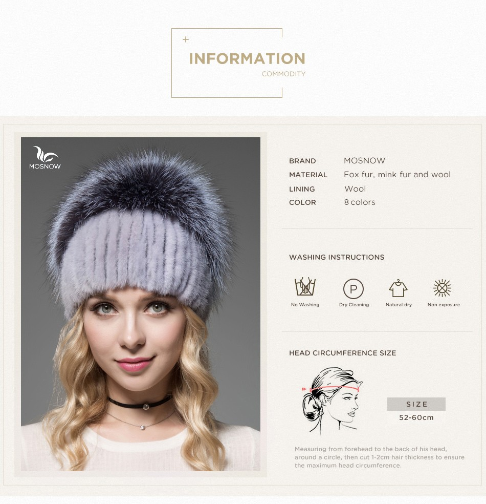 fur woman winter hats PCM012 (3)