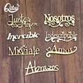 QITAI 21Pcs/Lot 7 Model Spanish Words Handicraft DIY Gift Wood Spain Letters Decoration Creativity Wooden Words Decor Set Wf265