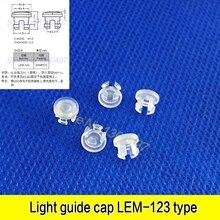 10 шт. LEM123 светильник светящийся диод Защитная крышка 3 мм светящаяся Крышка светодиодная Прозрачная крышка лампы