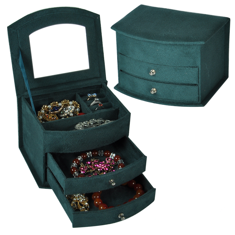 Textured Velvet Ring Box Lady Ring Case Valentine/'s Day Gift Jewelry Case Hot UK
