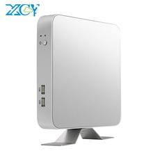 XCY X26 미니 PC 인텔 코어 i7 7500U i5 7200U Windows 10 Linux 4K UHD HTPC HDMI VGA WiFi 기가비트 이더넷 6 * USB 오피스 컴퓨터