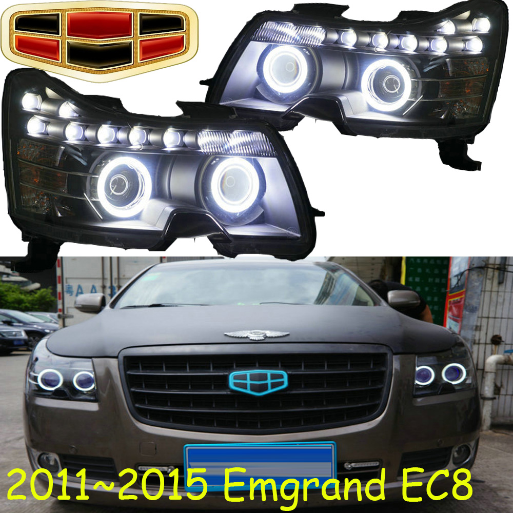 Geely Emgrand EC8 headlight,2011~2015,Fit for LHD,Free ship!Emgrand EC8 fog light,2ps/set+2pcs Aozoom Ballast;EC 8,Emgrand EC7 коврик в багажник geely emgrand ec7 rv 2011