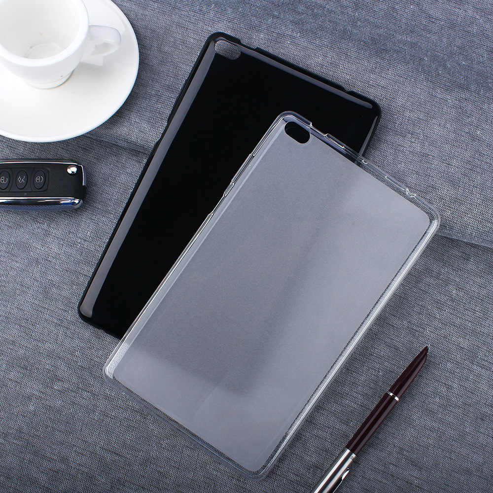 Soft Protection Tablet Cover Case for Lenovo Tab E8 8.0 Inch Ultra Slim Silicone Tpu TB-8304F1 Back Cover Black Clear Fundas