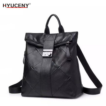 New Fashion Woman Backpack High Quality Youth Leather Backpacks for Teenage Girls Female School Shoulder Bag Bagpack mochil 2018 new retro fashion zipper ladies backpack leather high quality school bag shoulder bag for youth bags leather tassel
