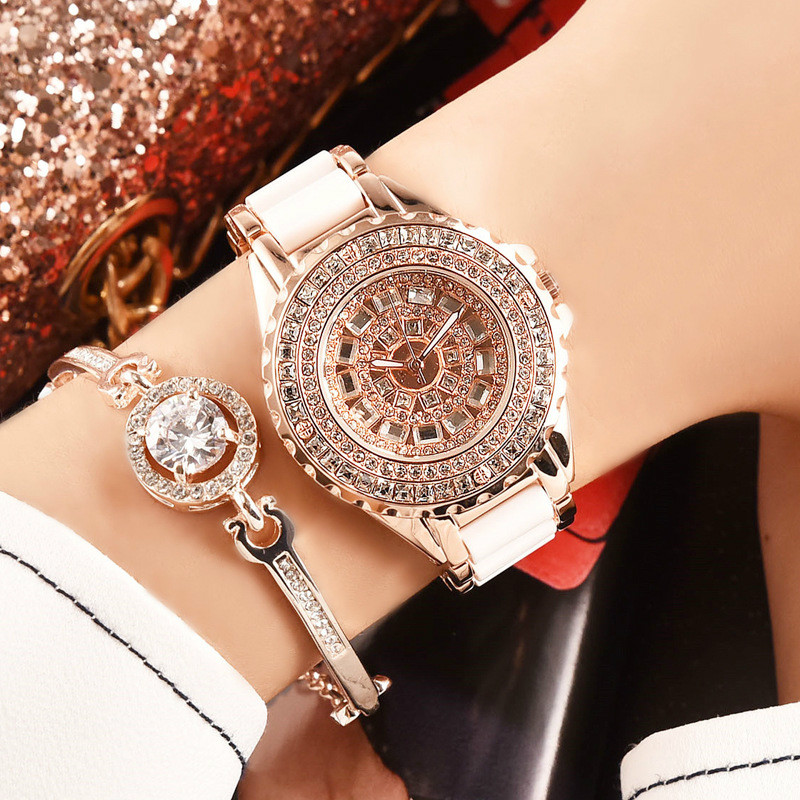 Ladies Quartz Watch Full Diamond Fashion Watch Casual Wild Women Brand Luxury Gold Fashion Women Dress Watches Ladies Quartz цена