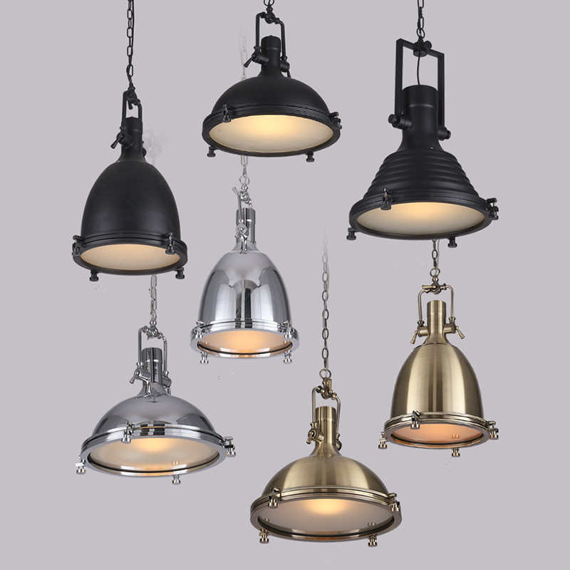 loft pendant light industrial style metal pendant lights restaurant light retro lamparas. Black Bedroom Furniture Sets. Home Design Ideas
