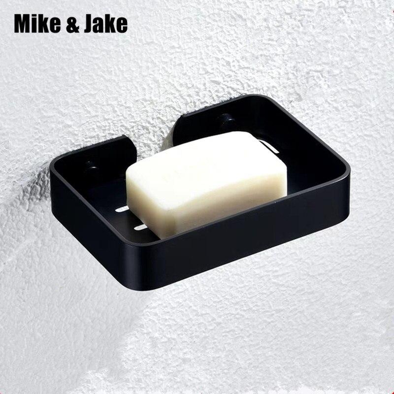 Space Aluminum Soap Dish Holder Square Black Soap Holder Bathroom Soap Shelf,Bathroom Accessories Hardware MJ6002B