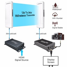 Wireless Hdmi extender Support 1080p 1-200meter  wireless transmission with audio extractor  include(transmitter and receiver)