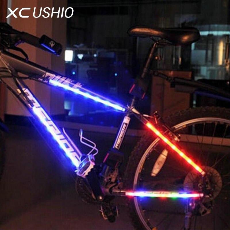 1 set quality mountain bike bicycle light 14 led decorative light safety cycling frame light 3