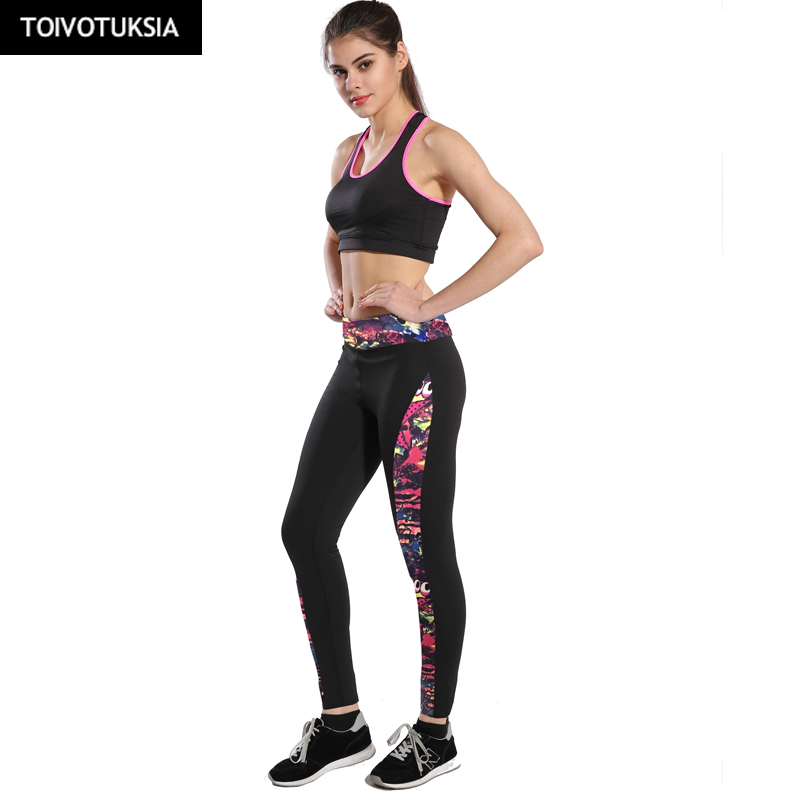 TOIVOTUKSIA Running Womens Fitness Pants Workout Quick-drying Leggings Panelled Ladies High Waist Leggins