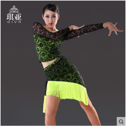 Latino Dance Rochie Femei Negre Sala de Tango Dance Fusta Fete - Arte, meșteșuguri și cusut
