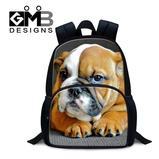 Angry dog print felt school bag 12 inch small children backpacks ...