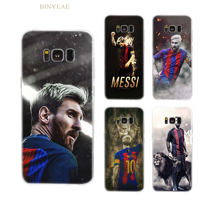BINYEAE Lionel Messi Soccer player Soft Silicone TPU Cover Case for Samsung S6 S7 S8 S9 S6 edge S7 edge S8 S9 Plus note 8