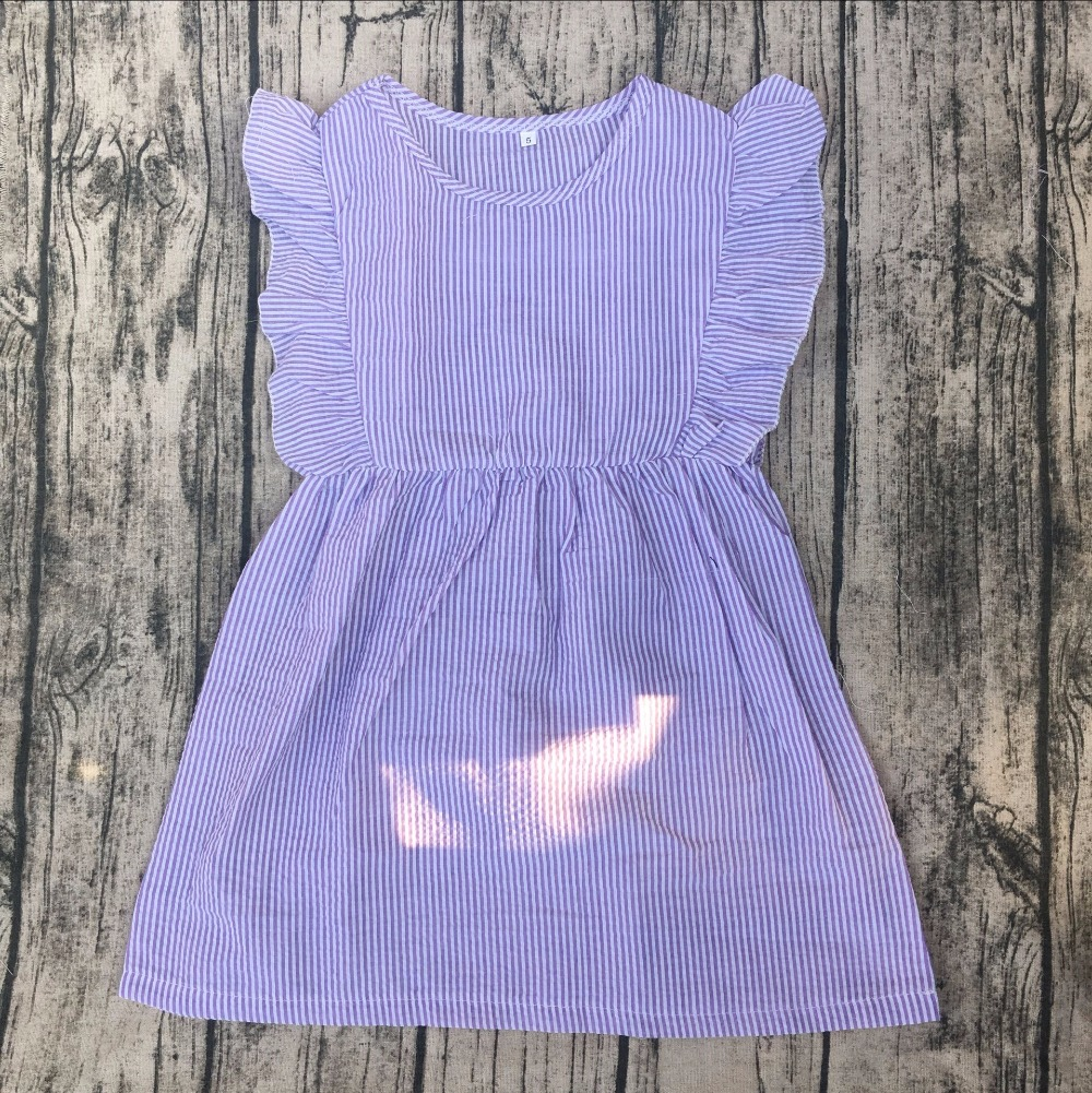 little princess cute dress for baby girl seersucker flutter sleeveless children dress xxx bf photo kids clothes ...