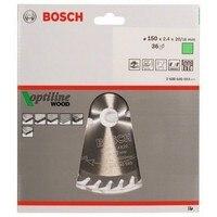 BOSCH 2608640593 Disk dairesel testere OptiLine Ahşap 150x2 4X20/16D 36WZ