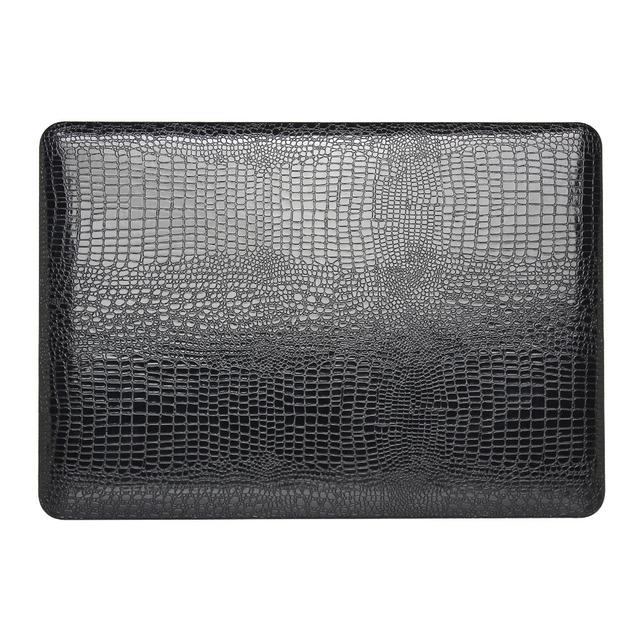 Mais novo padrão de crocodilo de madeira hard case para apple mac macbook air 11 13 13/Pro 15/Retina 12 Shell Laptop Bag + Leitor de Cartão