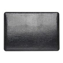 Neueste mode krokoprägung hard case für apple mac macbook air 11 13/Pro 13 15/Retina 12 Schale Laptop-tasche + Kartenleser