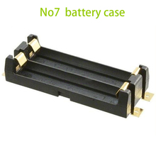 Wholesale Cheap SMT gilded Case black battery storage box for AAA*2 Battery soldering Storage Holder Box