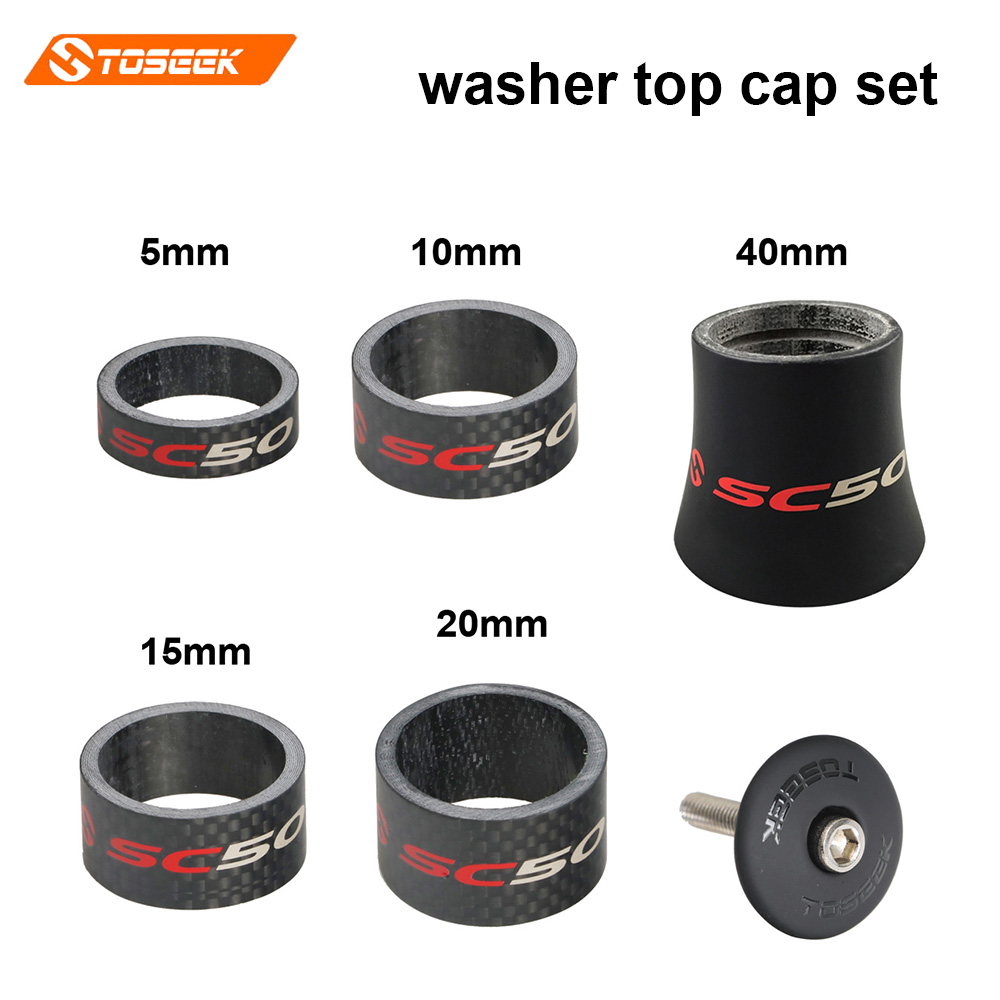Toseek road bicycle headset Spacer carbon fiber 1-1/8