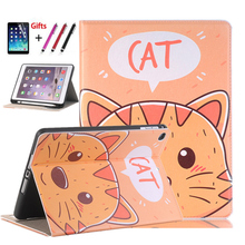 Fashion Cute Cartoon pattern With Pencil Holder for Apple iPad Air1 Stand Case For IPAD 9.7 2018 2017 childs Soft Silicone case