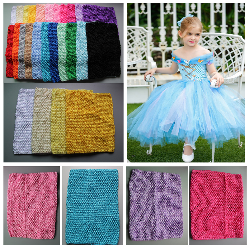 Wholesale 12 Inch tube top tutu kids girl crochet pettiskirt headbands Free Shipping 120pcs/lot