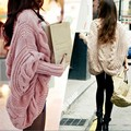 2017 Spring Fashion Womens Batwing Top Poncho Knit Cape Cardigan Long Sleeve Knitwear Sweaters New Female Clothes Free Size