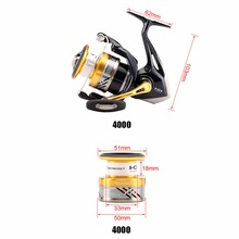 2016 New Shimano NASCI Deep line cup Spinning Fishing Reel 4+1BB 5.0:1/6.2:1 Hagane gear X-Ship Saltwater fishing reel