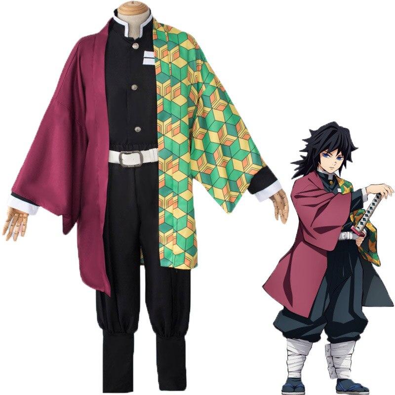 Zhomecos Anime Demon Slayer Kimetsu No Yaiba Tomioka Giyuu Cosplay Costume Kamado Tanjirou Agatsuma Zenitsu Kimono