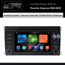 Android 6.0 Operation System Built In 32GB Inand 2G RAM Car DVD Player for  Porsche Cayenne 2003-2010 Car multimedia player