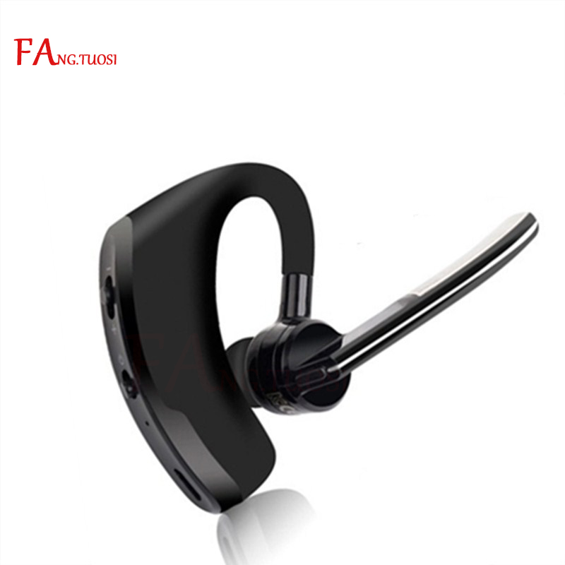 FANGTUOSI Business stereo Bluetooth Headset Wireless Sport Earphone Phone Handsfree MIC Music for iPhone Xiaomi Samsung 2017 new stereo wireless bluetooth 3 0 handsfree headset earphone with charging cable for iphone 6 samsung