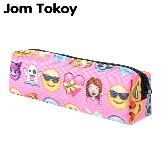 78b3bcc0380d US $1.69 15% OFF|Jom tokoy 3D Print Cosmetic Bag 2018 fashionable girl  Emoji Makeup Bag Stationery Pouch Kids School Pencil Bag -in Cosmetic Bags  & ...