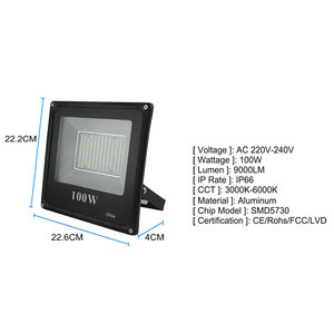 Image 4 - BUYBAY LED מבול אור 220V 240V 30W 50W 100W 200W תאורה חיצונית מקרן רפלקטור led חיצוני זרקור led exterieur